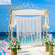 Rustic Wedding Decor Macrame Curtain Tapestry Backdrop Decoration For Events Party Supply Wall Hanging