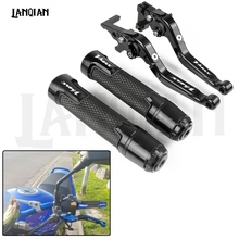 For Yamaha VMAX V-MAX 1200 Motorcycle CNC Brake Clutch Lever & 7/8 22MM Handlebar Grips 1997-2004 2005 2006 Accessories
