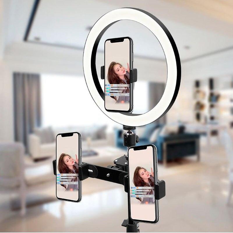 cheapest Desktop Bracket Supplementary Light LED Beauty Ring Light Mobile Phone Live Trip aro luz led tripode