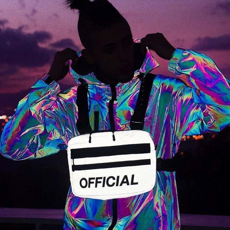 Alyx Tactical Bag Vest Street Reflective Hip Hop Bag PVC Banana Bag Unisex High Capacity Kidney Bag Adjust Chest Bag For Men