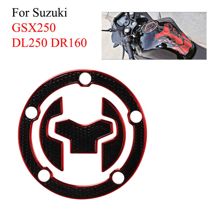 3D Motorcycle Gas Fuel Cap Pad Olie Tank Pad Protector Cover Decals Stickers Voor Suzuki GSX250 DL250 DR160