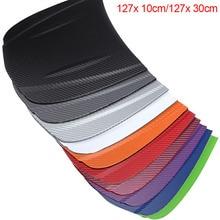 цена на 127x10cm/127x30cm Carbon Fiber Vinyl Film 3D Solid Small Texture High Gloss Car Wrap Roll Adhesive Sticker Decal Sheet