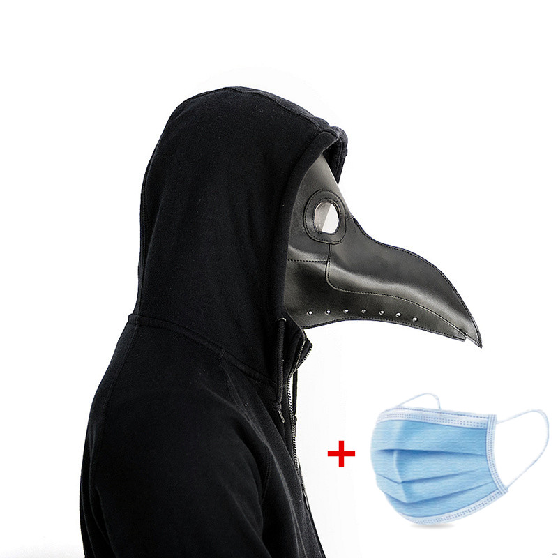 New Plague Doctor Mask Beak Doctor Mask Long Nose Cosplay Fancy Mask  Gothic Retro Rock Leather Halloween Beak Mask
