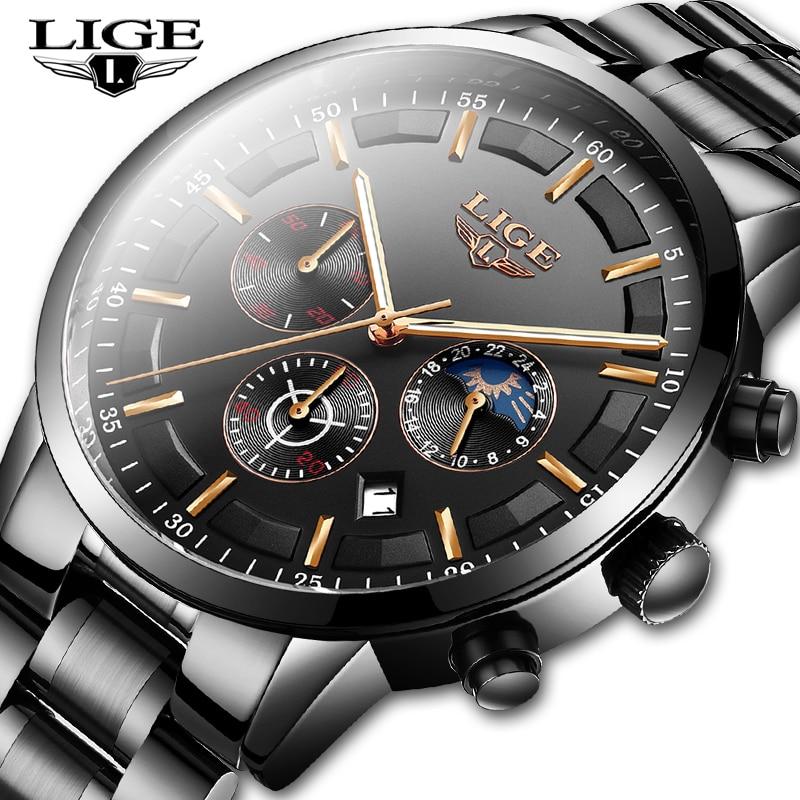 Relojes 2020 Watch Men LIGE Fashion Sport Quartz Clock Mens Watches Top Brand Luxury Business Waterproof Watch Relogio Masculino(China)