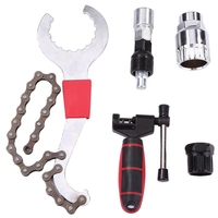 Kits de ferramentas de reparo da bicicleta mountain bike chain cortador removedor removedor removedor de roda livre removedor extrator manivela|Ferramentas p/ reparo de bicicletas|   -
