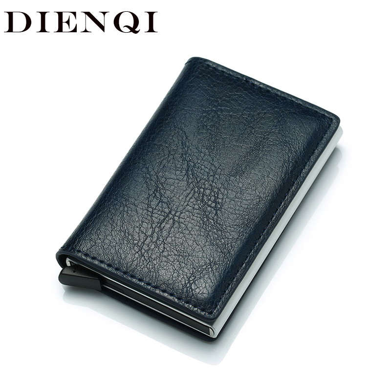 Antitheft Metal Credit ID Card Holder Wallet Men Rfid Blocking Aluminium Business Creditcard Holder Case Mini Wallet For Cards
