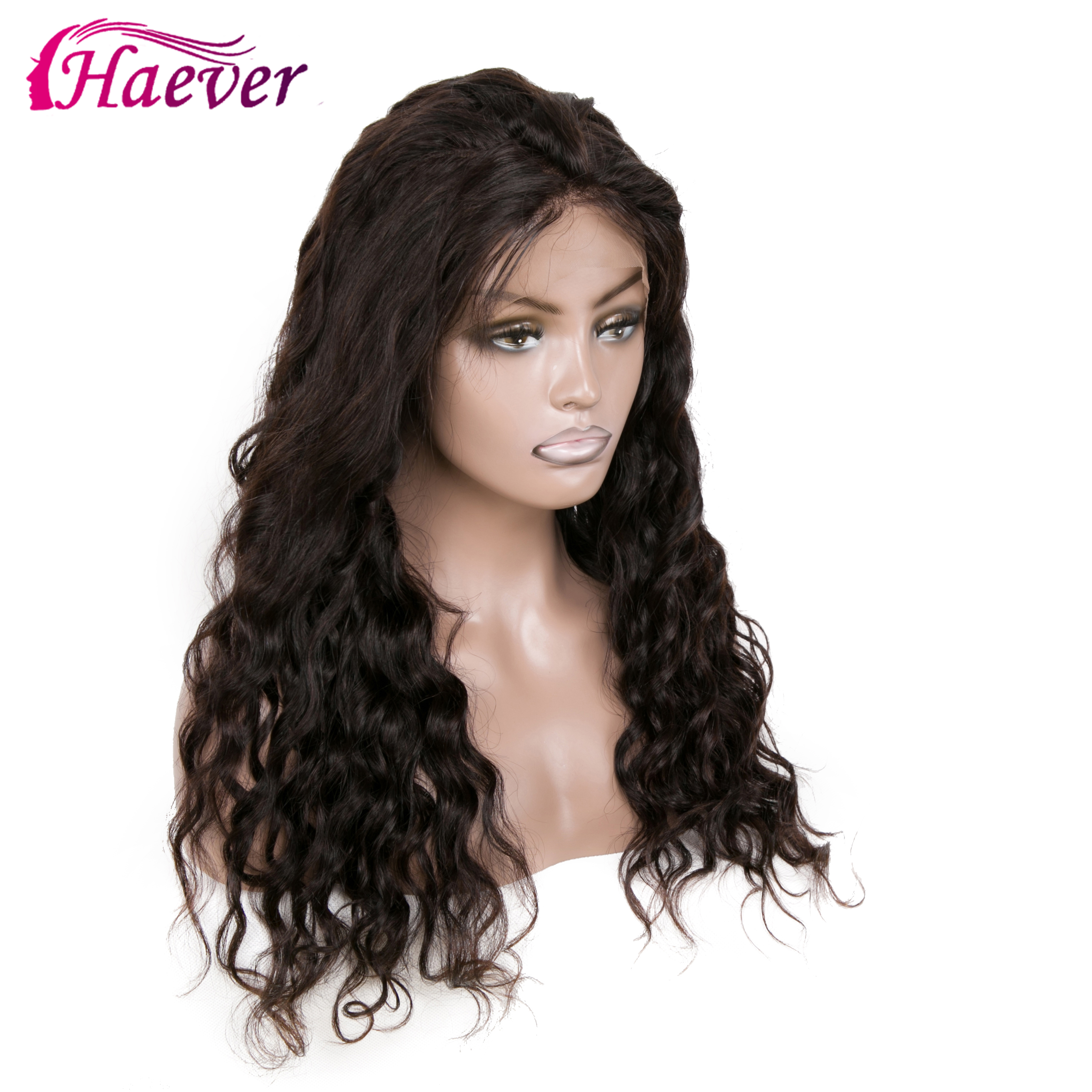 Haever 13x4 Brazilian Water Wave Lace Front Human Hair Wigs Frontal With Baby Pre Plucked Natural New 150%