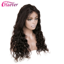 Haever 13x4 Brazilian Water Wave Lace Front Human Hair Wigs Frontal Lace Wigs With Baby Hair Pre Plucked Natural New Hair 150% цена