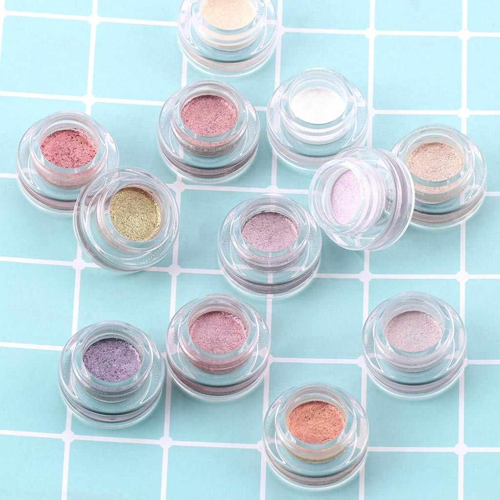 プロフェッショナル光沢のあるアイライナー化粧品女性顔料シルバーローズゴールドカラー液体グリッターアイ安い化粧美容 # ZG
