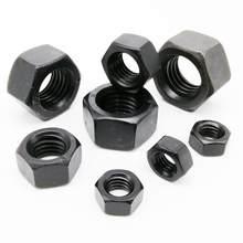 1/50Pcs Black Grade 8.8 Staal DIN934 Hex Hexagon Moer Voor M1.4 M1.6 M2 M2.5 M3 M4 M5 m6 M8 M10 M12 M14 M16 M20 M22 M24 Schroef Bolt