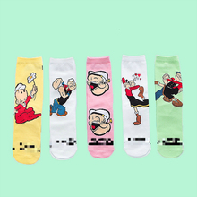 V-Hanver Fashion Cute Creative Spinach Cotton Women Socks Top Quality Cartoon Funny  Lovely Men For Lovers