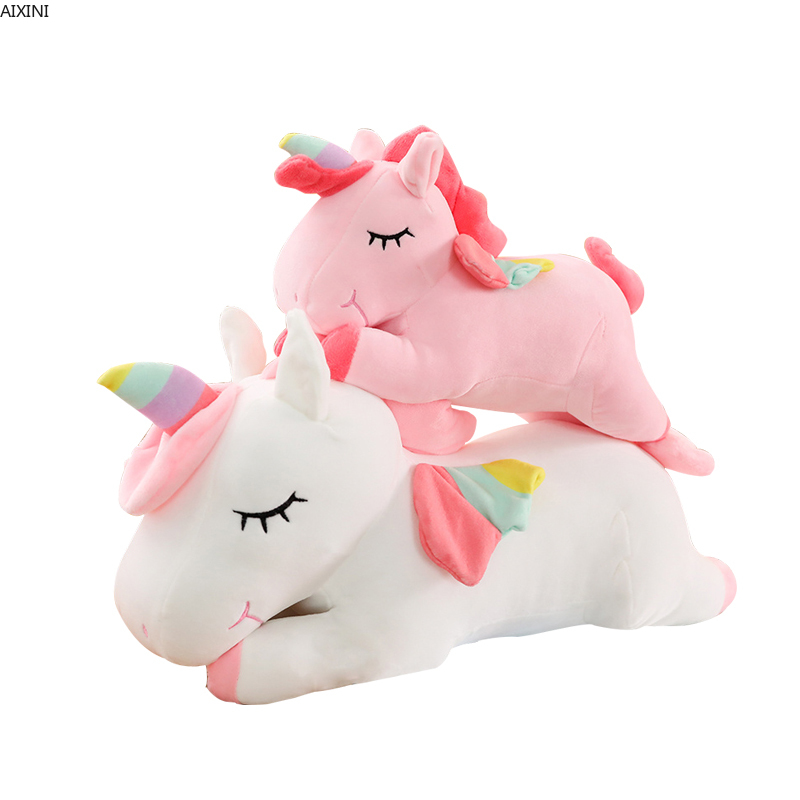 1 Pcs Baby Cute Stuffed Plush Toys for Children Toys Kids Soft Unicorn Doll Animal Adult Girls Toy Pillow Birthday Party Gift in Stuffed Plush Animals from Toys Hobbies