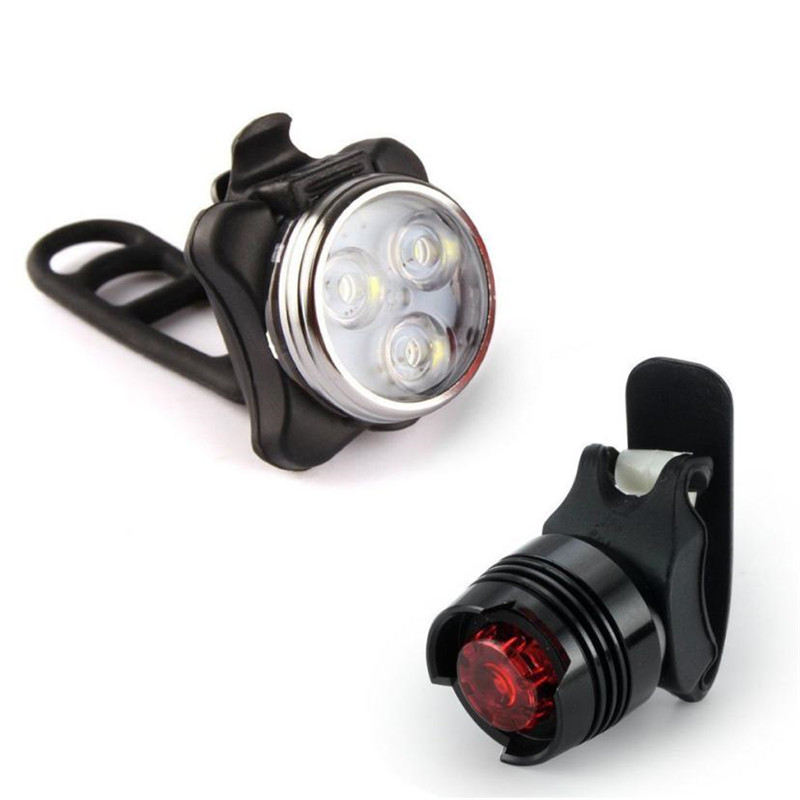 Bicycle Lamp Set Front Light Tail Light USB Bicycle Accessories