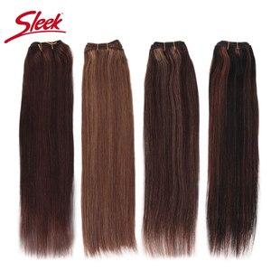 Гладкие Remy бразильские натуральные прямые человеческие волосы в пряди P4/27 и blone P6/27 наращивание волос от 10 до 26 дюймов