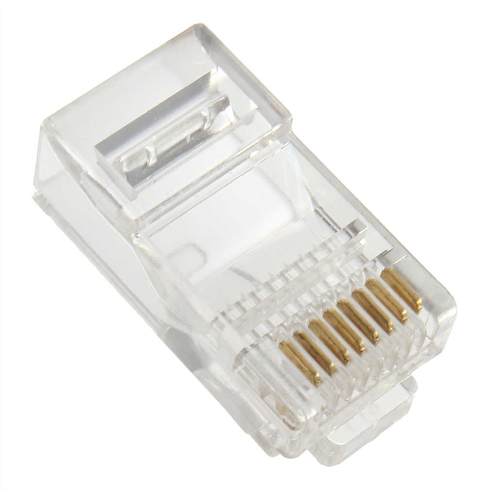 1 Pcs RJ45 CAT5 Crystal Modulaire Plug Lan Network Connector 8 Pins Network Cable Plug Voor Utp Cat5 Cat5e Drop verzending