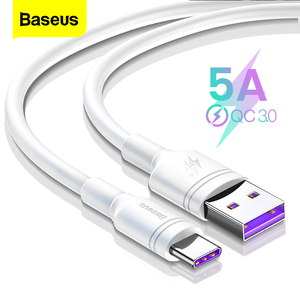Baseus 5A USB C Cable For Huawei Mate 20 P20 Pro Fast Charging Data USB Type C Cable For Xiaomi mi 9 Oneplus 6t 6 USB-C Charger