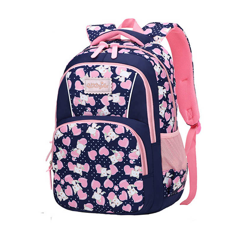 Kids School Bags For Girls Primary School Backpack Child Princess Fashion Printing Schoolbag Oxford Big Cartoon Design 6-12 Year
