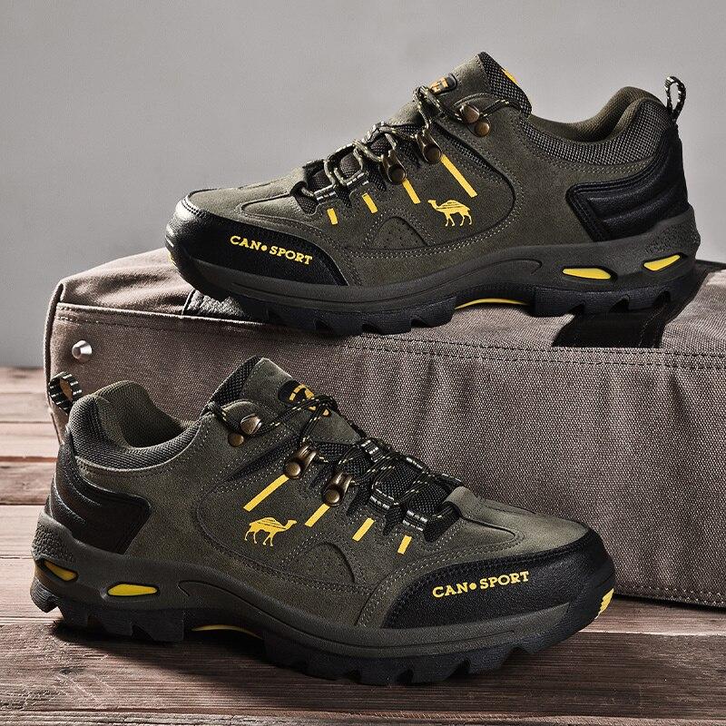 Yüksek Kaliteli Erkek yürüyüş ayakkabıları Sonbahar Kış Marka Açık Erkek Spor Trekking Dağ Botları Su Geçirmez Tırmanma spor ayakkabı