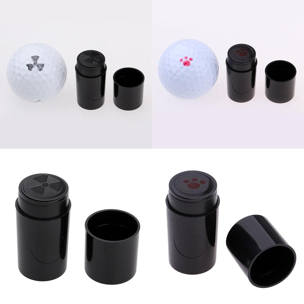 2pcs Set Funny Quick-Dry Golf Ball Stamp Stamper Marker Golfer