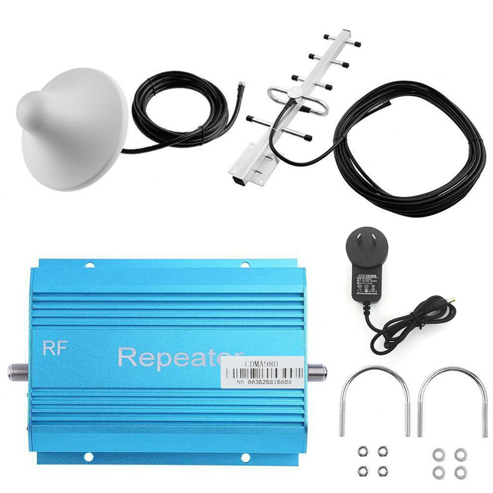 850MHz CDMA Cell Phone Signal Booster Amplifier Mobile Repeater With Aerial For Home High Grain Signal Extender Kit