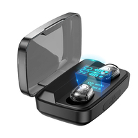 case iphone 5 Wireless 5.0 Bluetooth headset 3D Stereo Wireless Earphone Headset 1800mAh Battery LED Display Charge Case For iPhone Xiaomi Hua (3)
