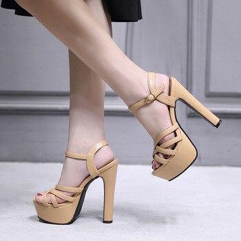 Ladies Sandals Platform High Heels  1