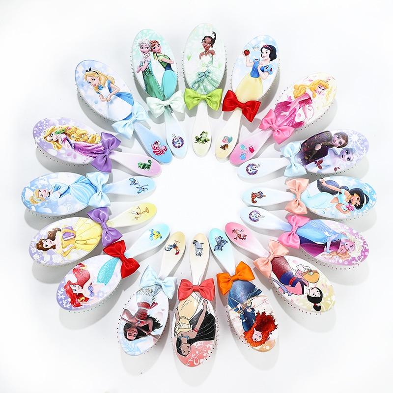 Disney Princess Plastic Gradient Comb Princess Series Hair Brush Hair Care Baby Girl Hair Comb Disney Toy