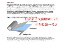 NRE 211 membrana jonowa z membraną protonową DuPont (10*10 cm)