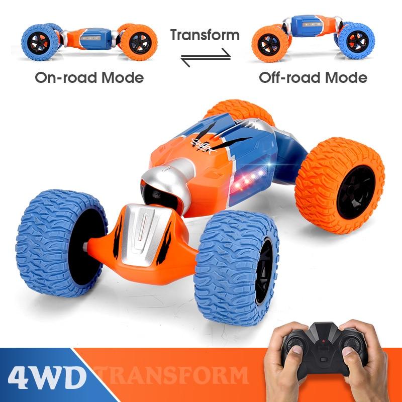 LBLA B1 1:16 2,4G 4WD дистанционного Управление трюк RC автомобилей Радио твист деформации вездеход восхождение модель игрушки с светодиодный свет