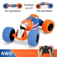 LBLA B1 1:16 2.4G 4WD Remote Control Stunt RC Cars Radio Twist Deformation Off-road Vehicle Climbing Model Toys with LED lights