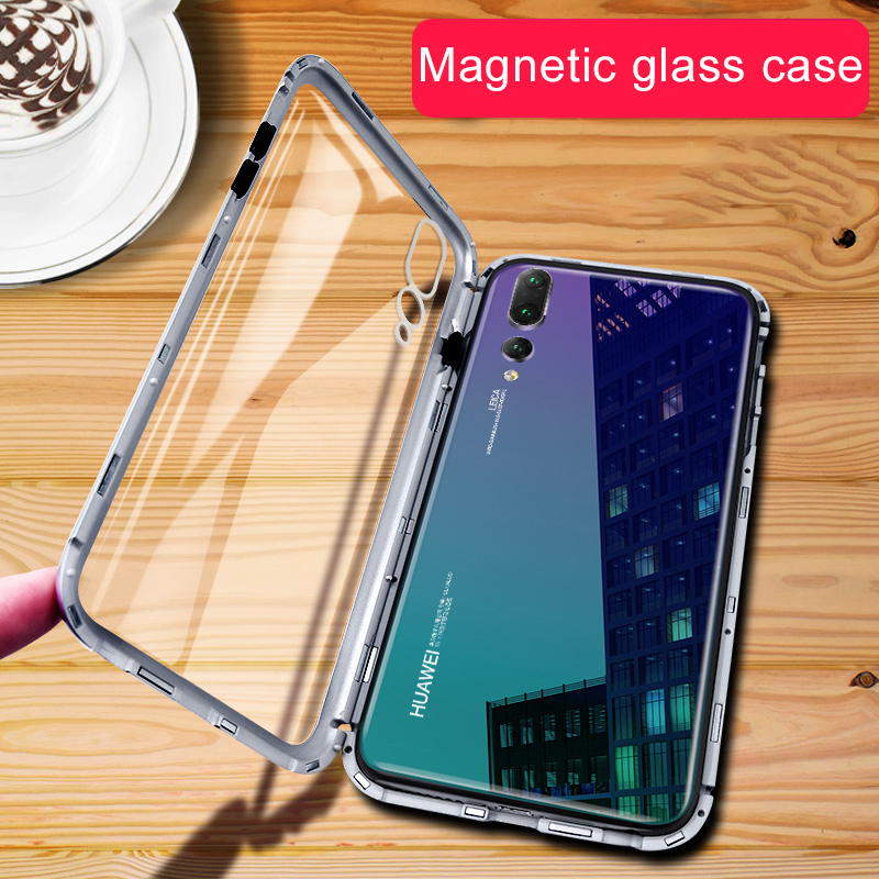 Magnetic tempered glass case for Xiaomi Redmi Note 8 5 6 Pro 7 Xiomi Note5 Note8 Note6 Pro Note7 Note8pro adsorption flip covers
