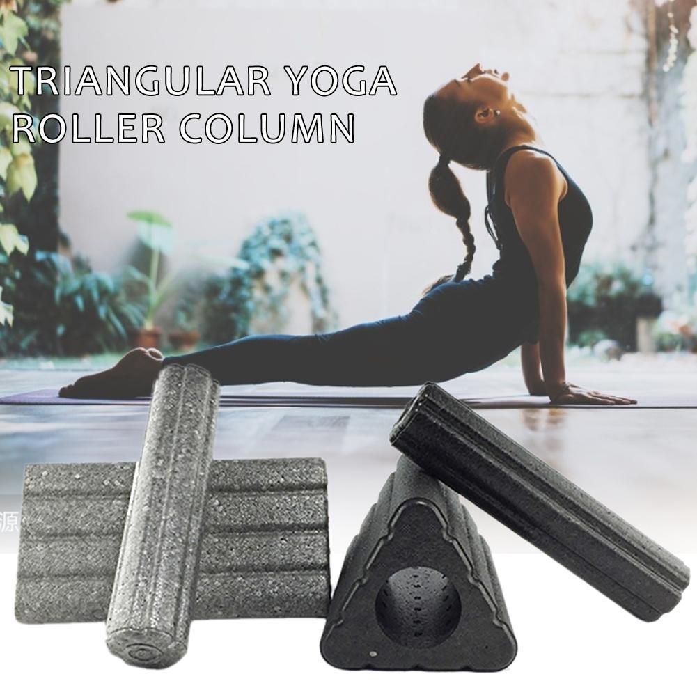 2 In 1 Yoga Column Triangular Yoga Block Pilate Eva Foam Roller Massage Roller Muscle Tissue For Fitness Gym Yoga Pilates Sports