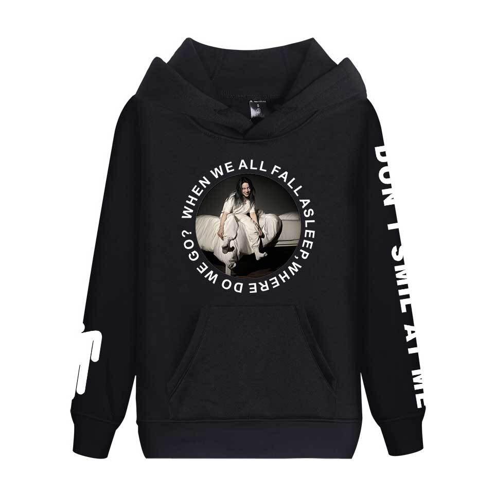Billie Eilish Hoodie Sudadera Hombre Sweatshirt Hip Hop Unisex Casual Streetwear Tops Kpop Bilie Eilish Style Hoodies Men