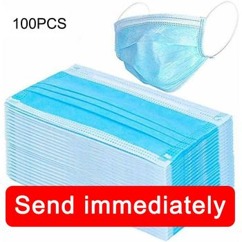 Masks anti dust Mouth-muffle bacteria proof Salon 3 Layers Disposable Loop filter Windproof bacteria proof Flu Face masks CareSG