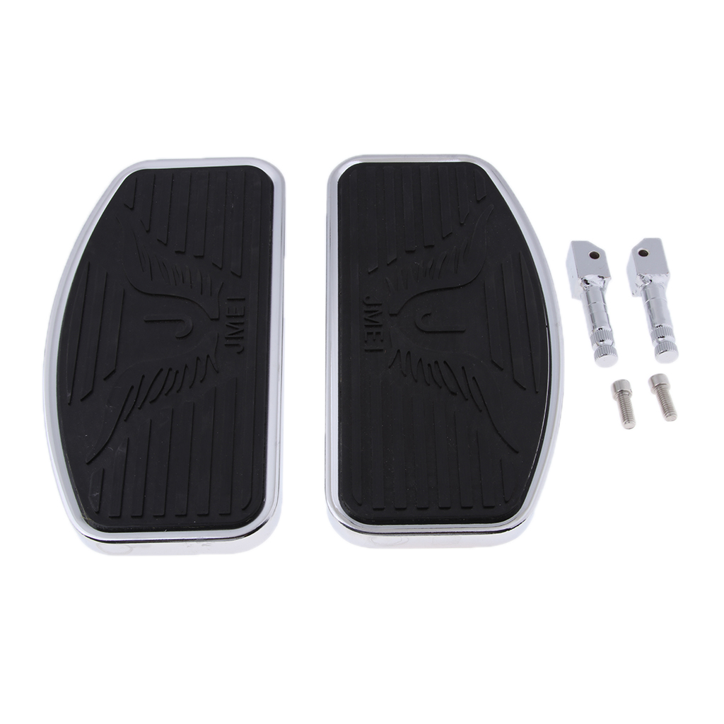 1 Pair Motorcycle Wide Foot Pegs Rest Footpeg  For Honda VTX 1300 1800  Suzuki Boulevard C50 Bracket Rider Footboard