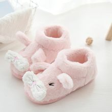 Mute Cute Soft Plush Ball Women indoor Boots winter Warm Winter Slippers Home woman shoes Furry Faux Fur woman short boot Drop(China)