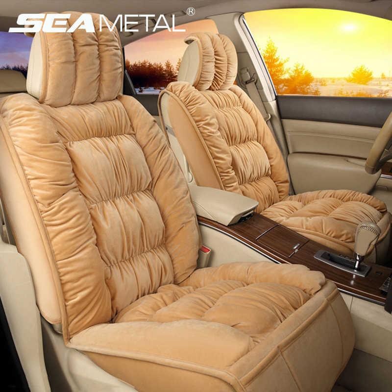 Cubiertas de asiento de coche cubierta de asiento de automóviles Interior cojín de asiento caliente para protección de invierno cubierta alfombras accesorios de coche