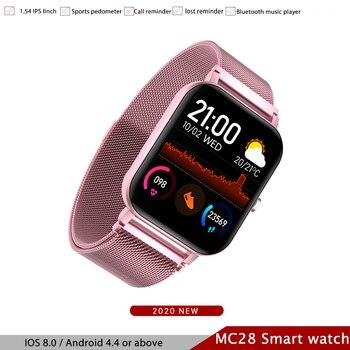 Reloj inteligente MC28 para hombre, rastreador GPS con llamada Bluetooth, reproductor de música completamente táctil, reloj inteligente deportivo para Android IOS PK iwo12 13 k8 2020 nuevo