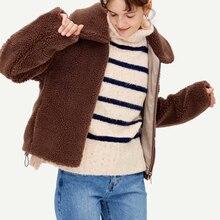 autumn 2019 casual jacket women turn down collar long sleeve coats streetwear thick faux fur warm winter jackets mujer 1 все цены