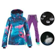 SMN Snowboard Jasje Skipak Volwassen Vrouwen Kleurrijke Wind Slip Waterdichte Ademende Outdoor Sport Winter Meisjes Skiën Pak