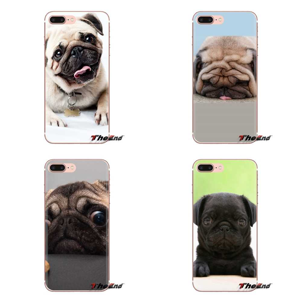 Transparent Soft Cases Covers Cute Pug Dog HD Wallpapers For Samsung Galaxy A3 A5 A7 A9.jpg q50