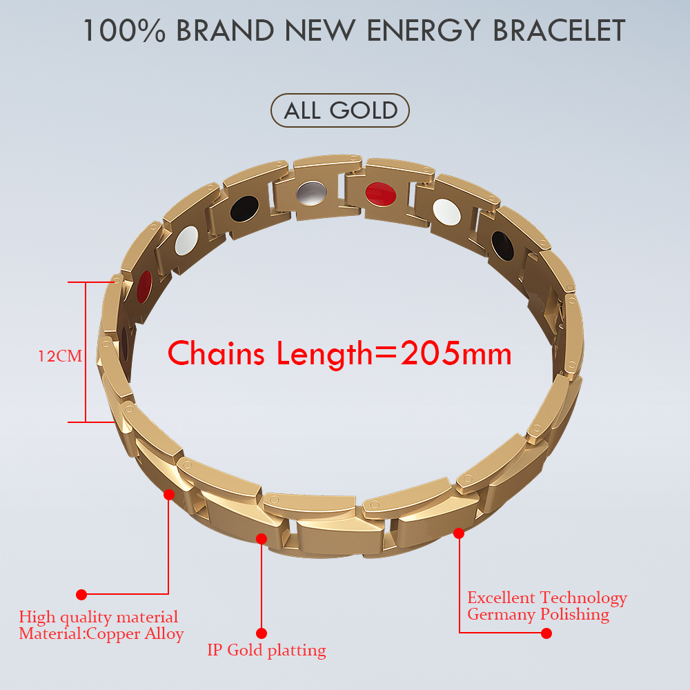 Abrray Magnetic Hematite Copper Bracelet Men s Health Bracelets with Hook Buckle Clasp Therapy Bangles Man