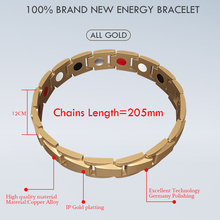 Abrray Magnetic Hematite Copper Bracelet Men's Health Bracelets with Hook Buckle Clasp Therapy Bangles Man Health Care Jewelry
