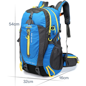 Image 2 - Men 40L unisex waterproof backpack travel pack  Hiking sports bag pack Outdoor Climbing Mountaineering Camping backpack for male