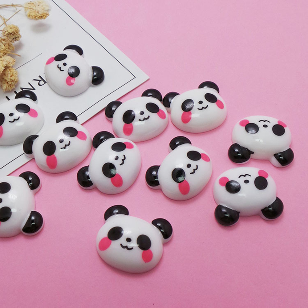 10 Pcs/lot Slime Charms For Slime Supplies Filler DIY Polymer Cute Panda Accessories Toy Model Tool For Kids Toys Gift