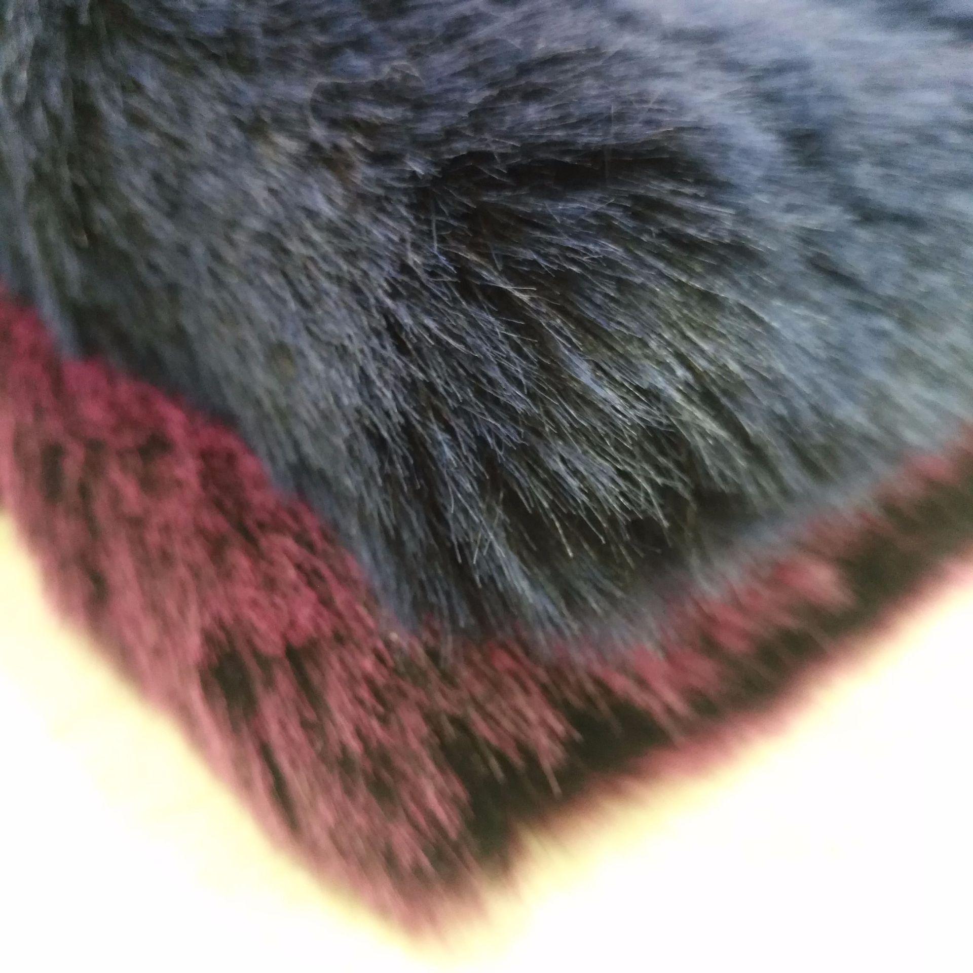 Мягкий лисий мех окрашенный кончик выцветший лисий мех плюшевая меховая ткань для игрушек - 6