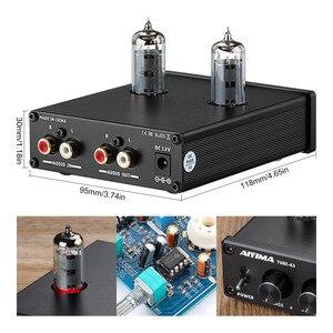 Image 4 - AIYIMA 6K4 튜브 앰프 담즙 프리 앰프 HIFI 프리 앰프 고음 저음 조정 오디오 프리 앰프 DC12V 앰프 스피커 용