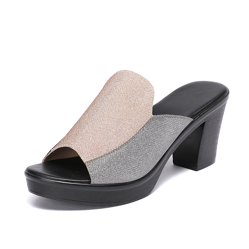 Big SaleGKTINOO Sandals Shoes Women's Slippers High-Heels Summer Fashion 8cm¡