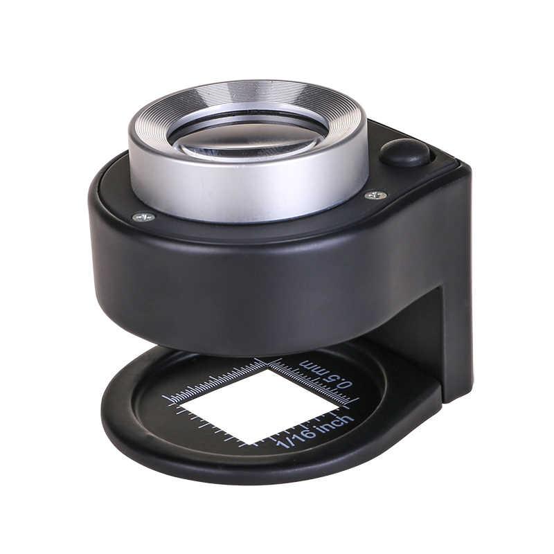NIVNI L/ámpara de mesa microscopio de lupa de cristal con clip de escritorio de metal para pintura de diamante 5D y herramienta de punto de cruz Lupa iluminada por LED