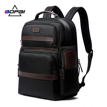 BOPAI Large Capacity Laptop Backpack Anti Theft USB Charging Fashion Men Shoulders Bag Travel for 15.6